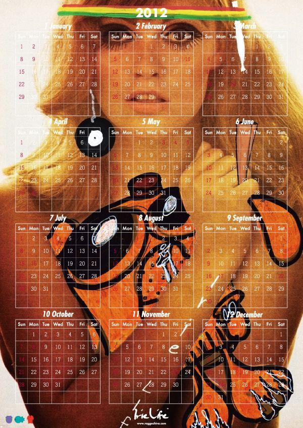 IRIE LIFE×ngap 2012 カレンダー