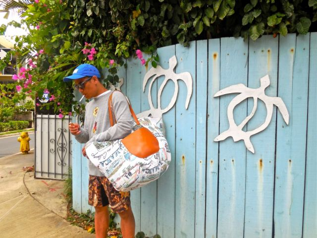 BIG TOTE&TREE OF LIFE SURF PANTS