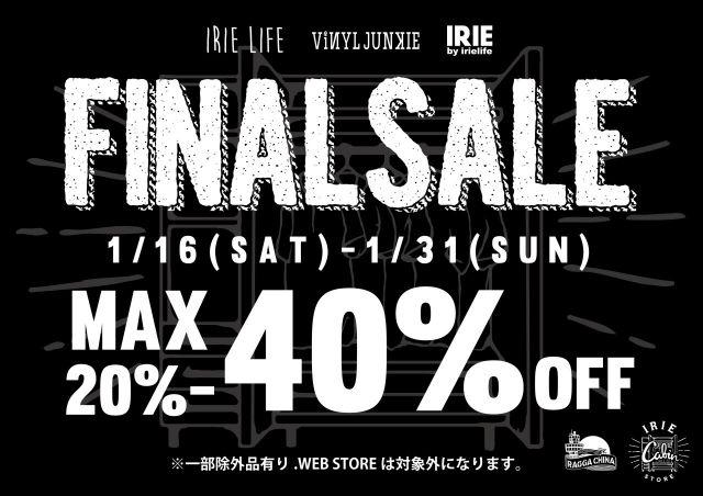 FINAL SALE 40%OFF!!