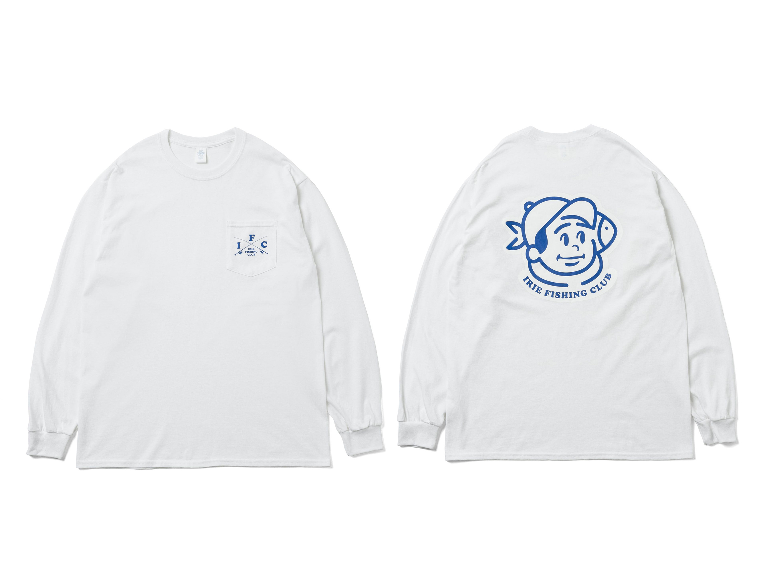 I.F.C NEW FISHING BOY POCKET L/S TEE -IRIE FISHING CLUB-