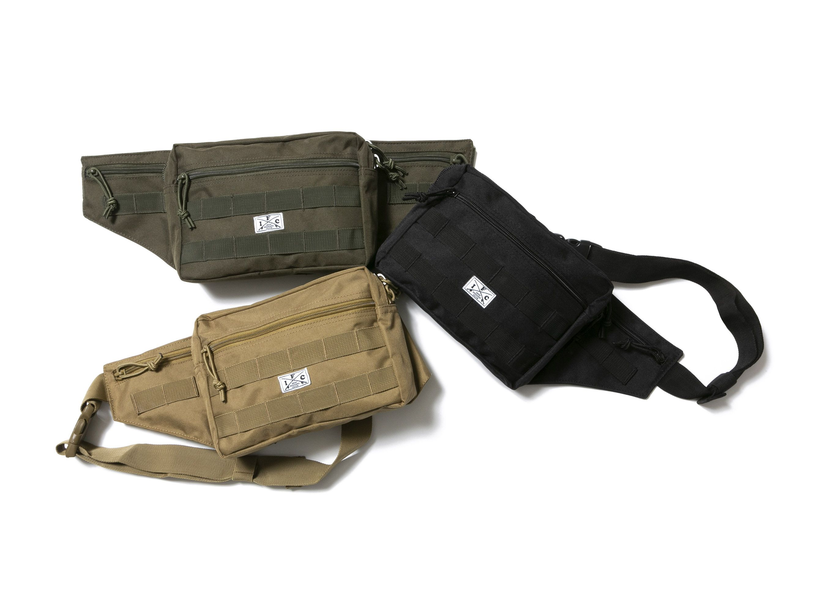 I.F.C CROSS ROD WAIST BAG -IRIE FISHING CLUB-