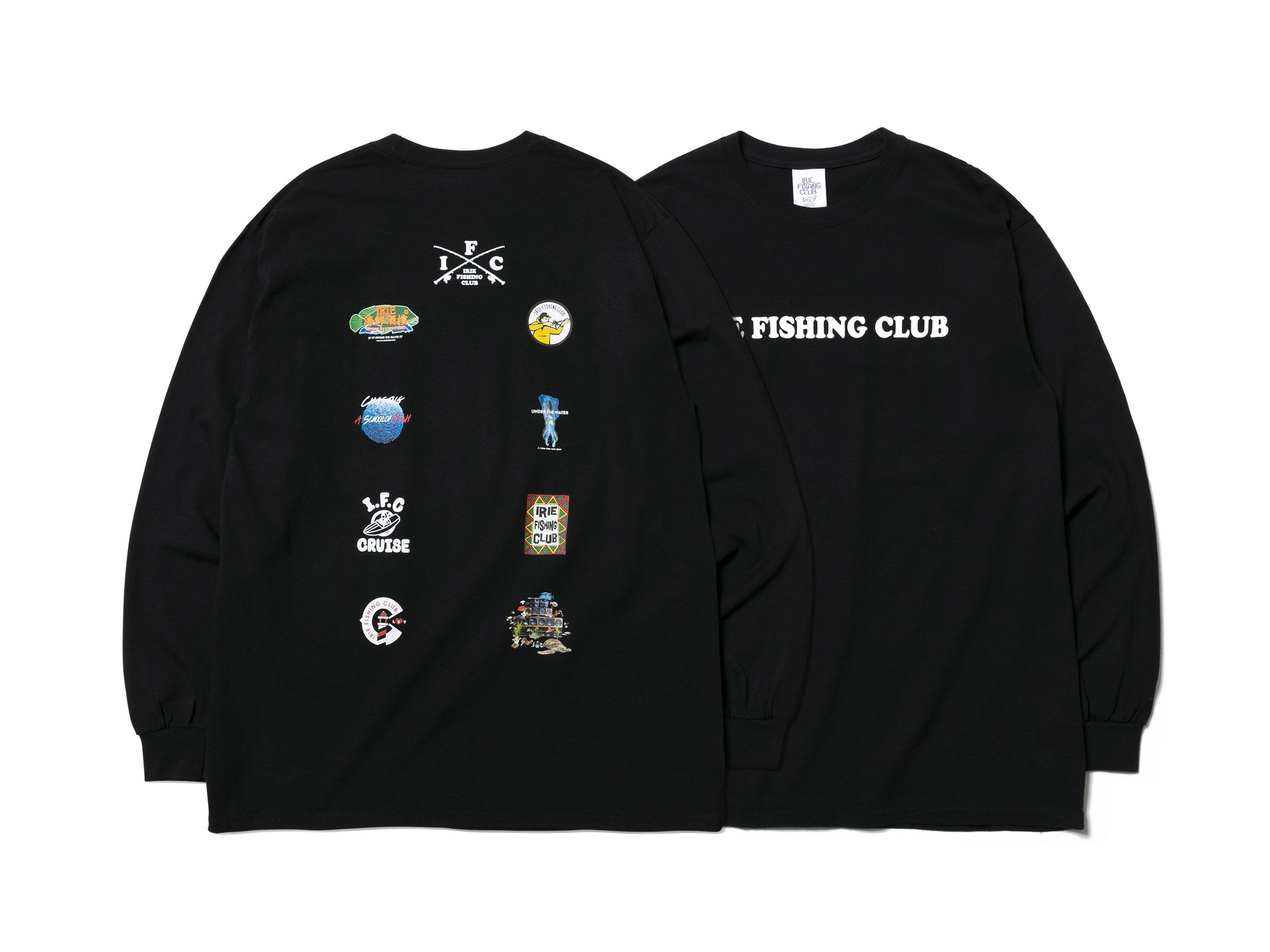 I.F.C MULTI LOGO L/S TEE -IRIE FISHING CLUB-