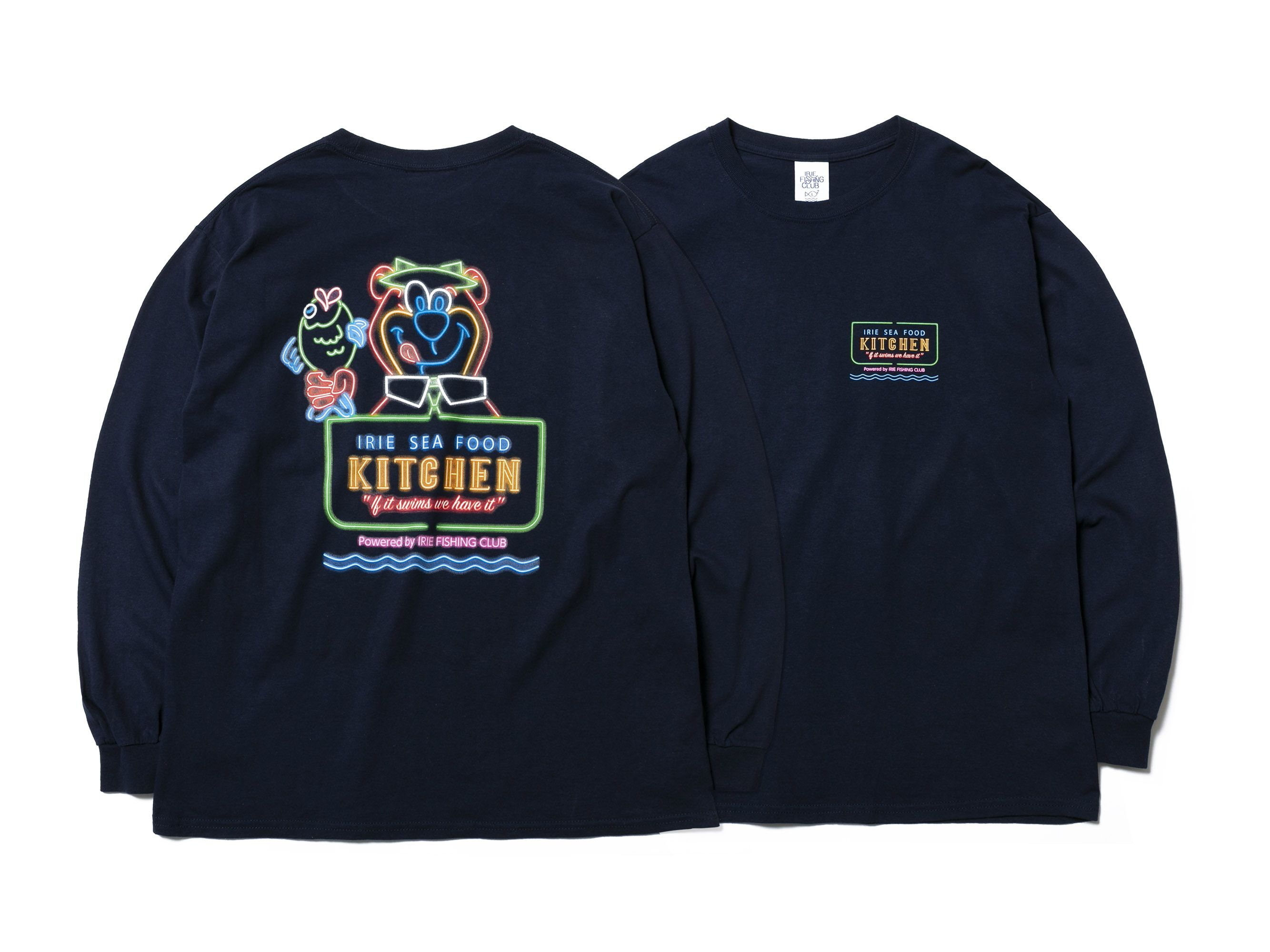 I.F.C IRIE SEA FOOD KITCHEN L/S TEE -IRIE FISHING CLUB-