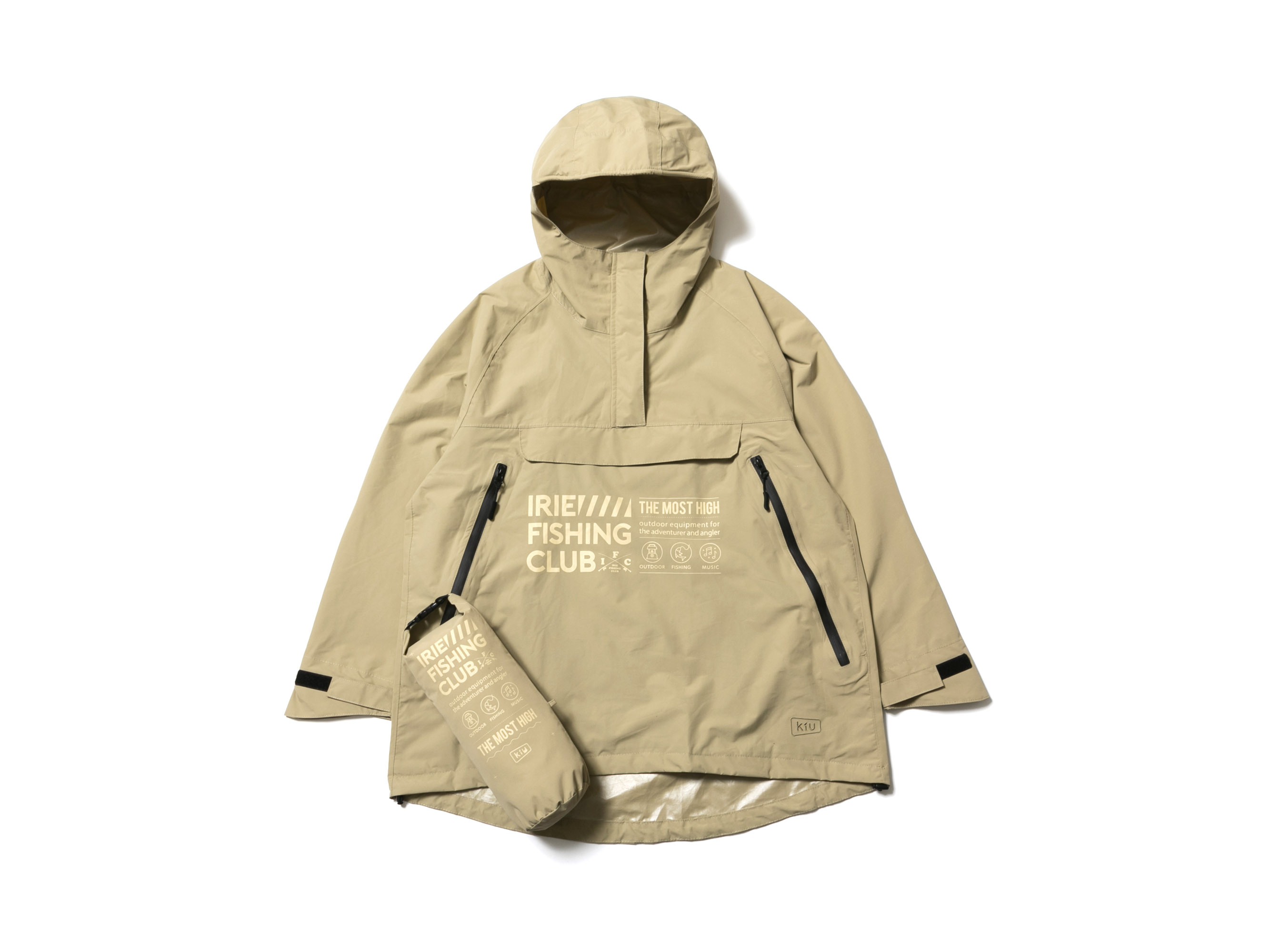× KiU I.F.C HALF ZIP RAIN PARKA -IRIE FISHING CLUB-
