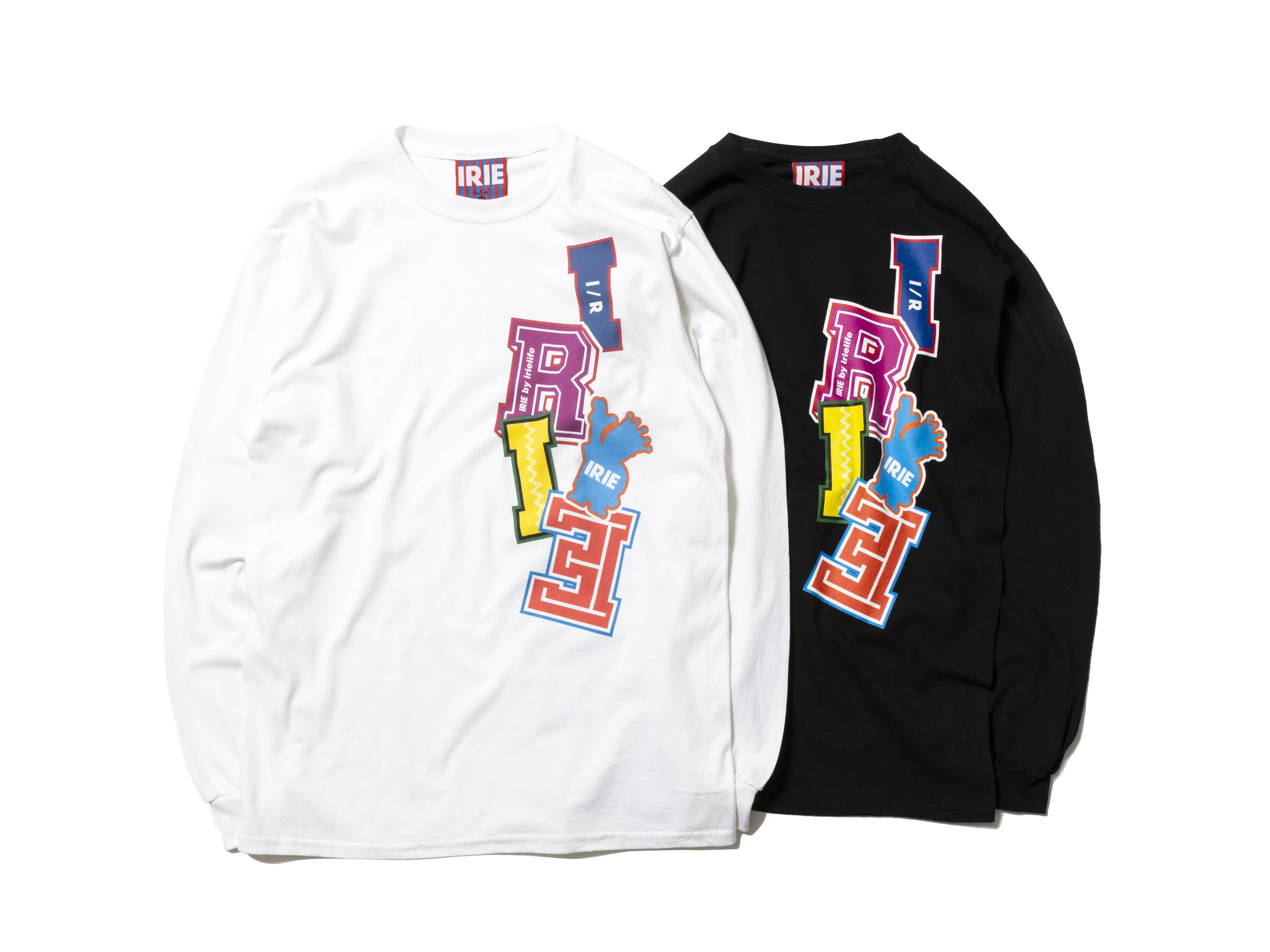 BLOCK LOGO L/S TEE -IRIE by irielife-