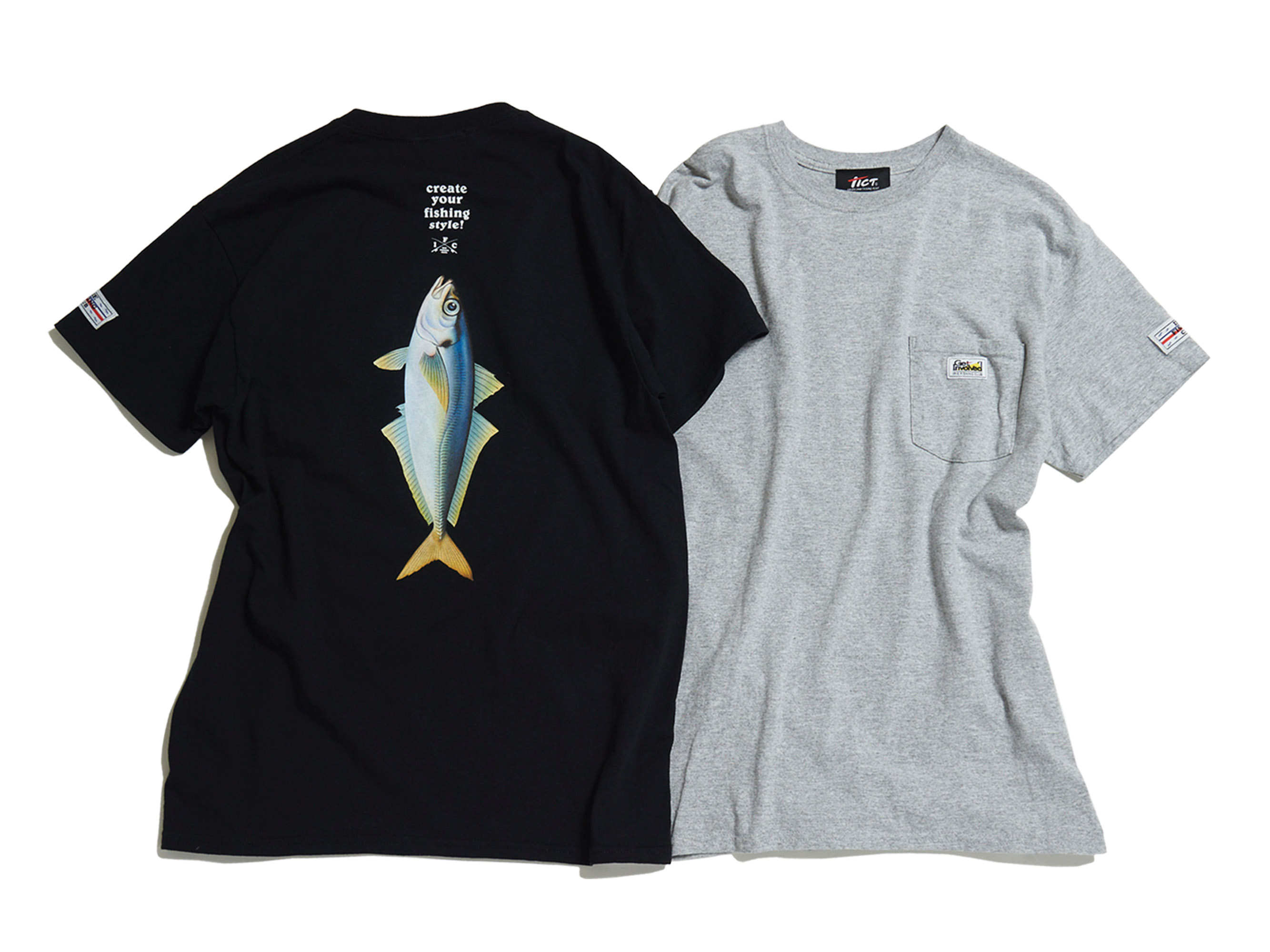 ×TICT 尺AJI POCKET TEE -IRIE FISHING CLUB-