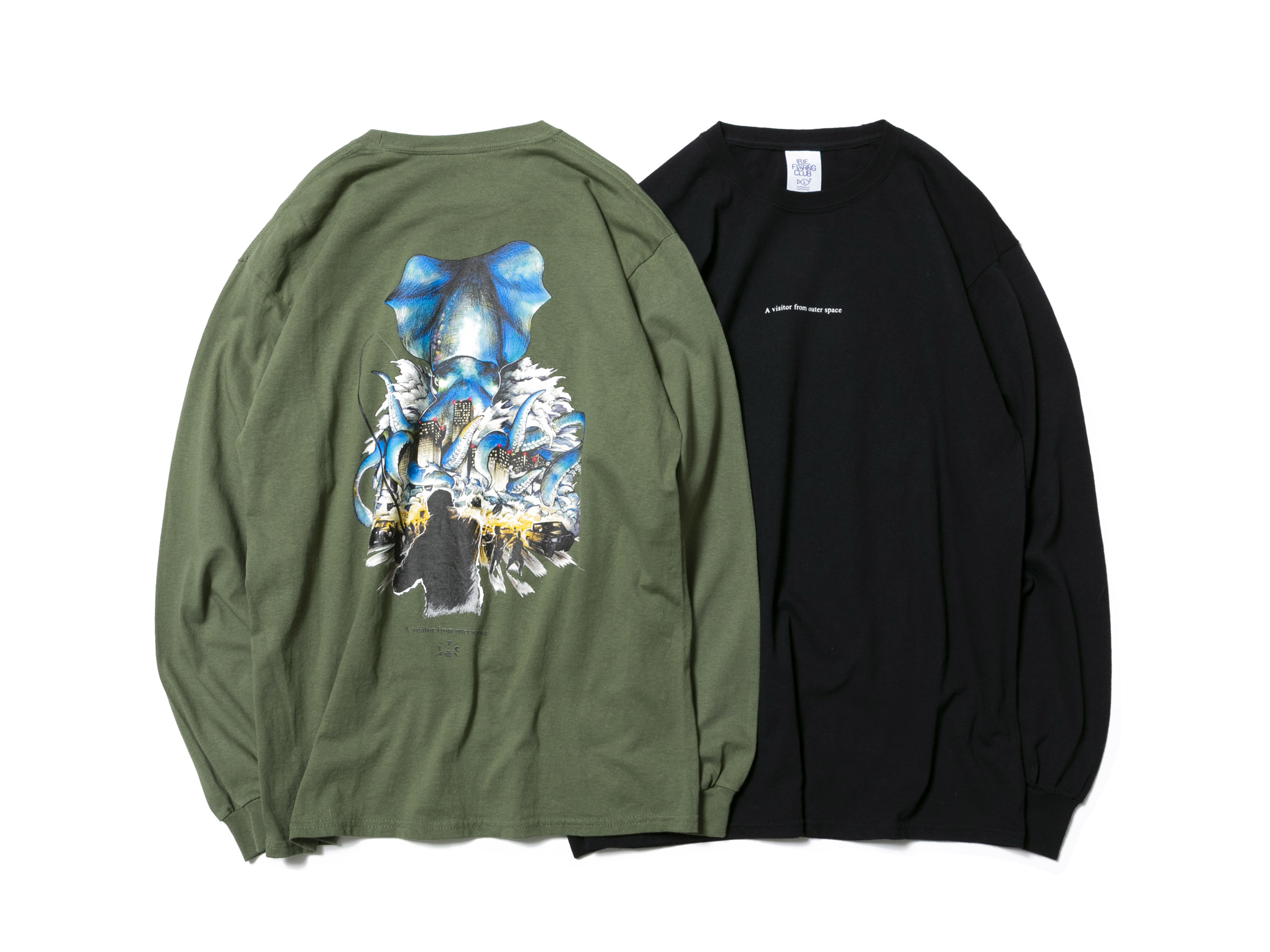 SQUID ATTACK  L/S TEE -IRIE FISHING CLUB-
