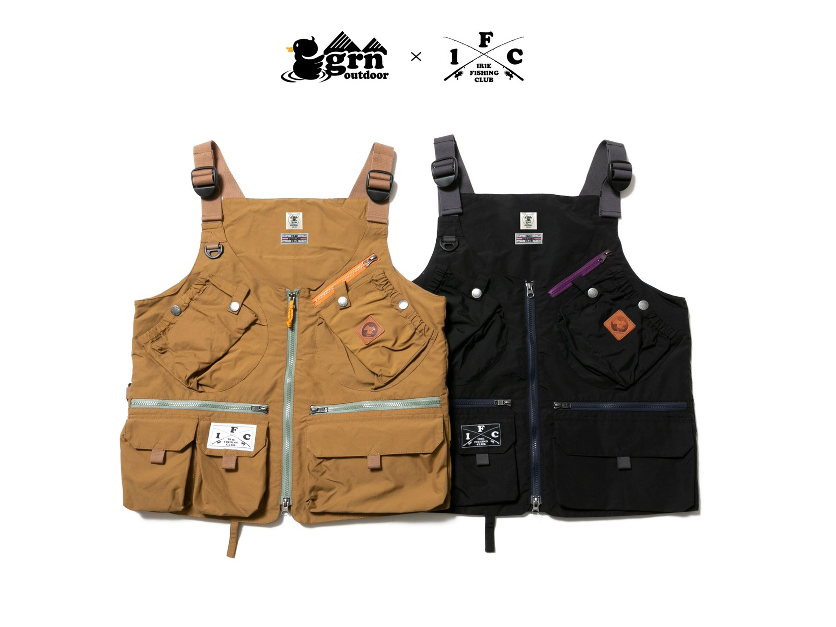 × grn outdoor TEBURA FISHING VEST -IRIE FISHING CLUB-