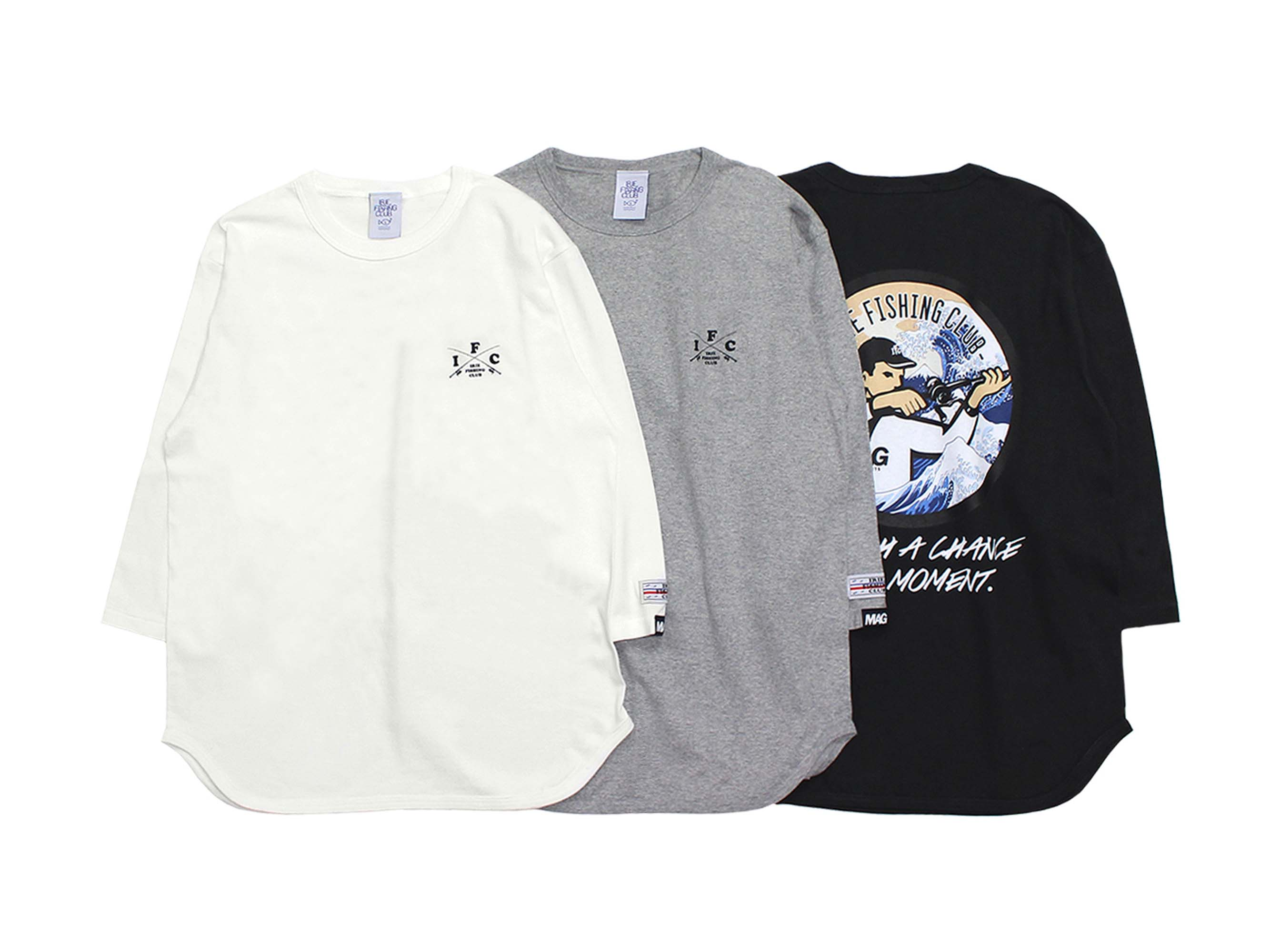 ×MAG BITE SNIPER BOY HOKUSAI 3/4 SLEEVE TEE - IRIE FISHING CLUB
