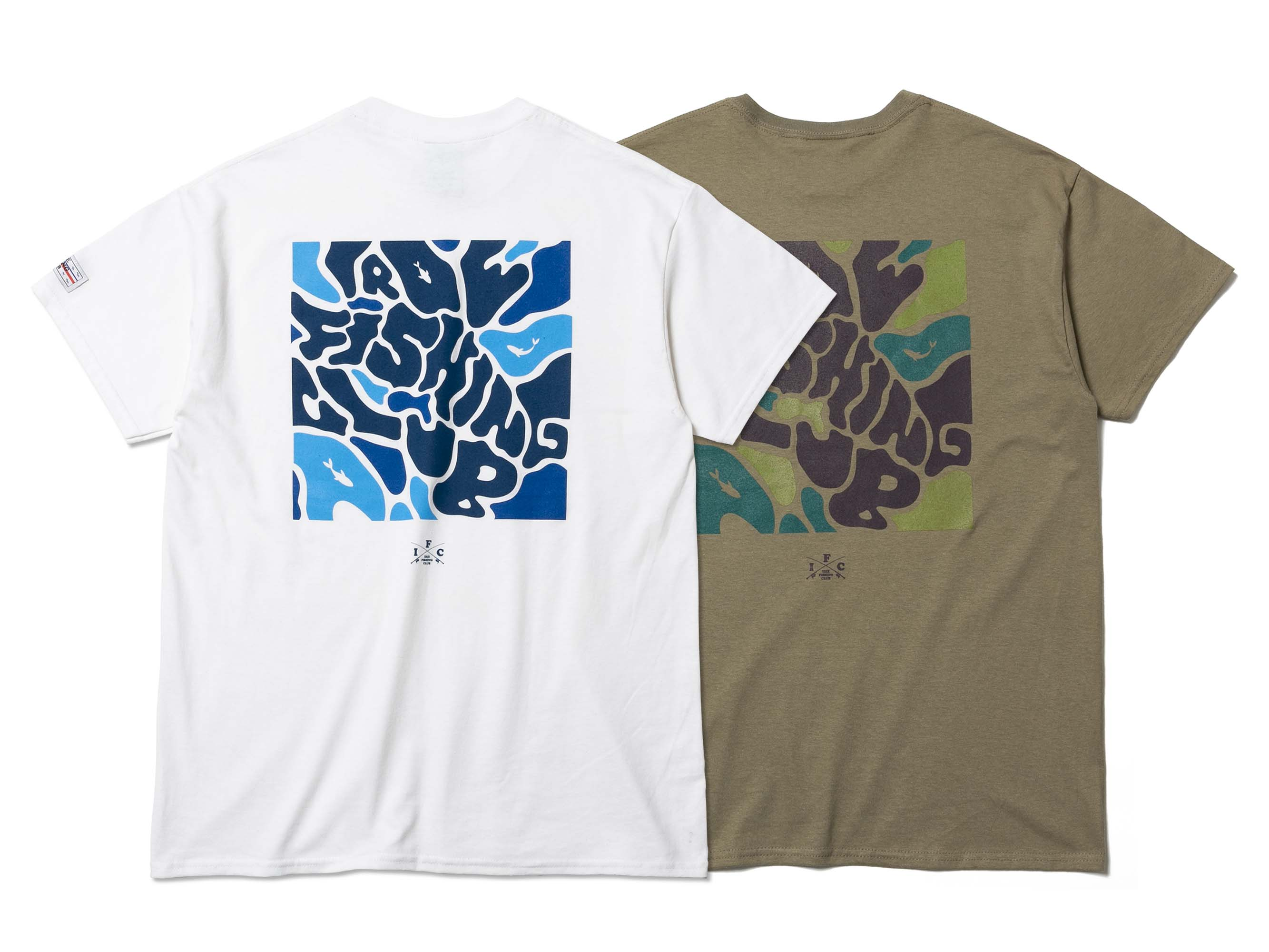 WATER CAMOUFLAGE TEE - IRIE FISHING CLUB