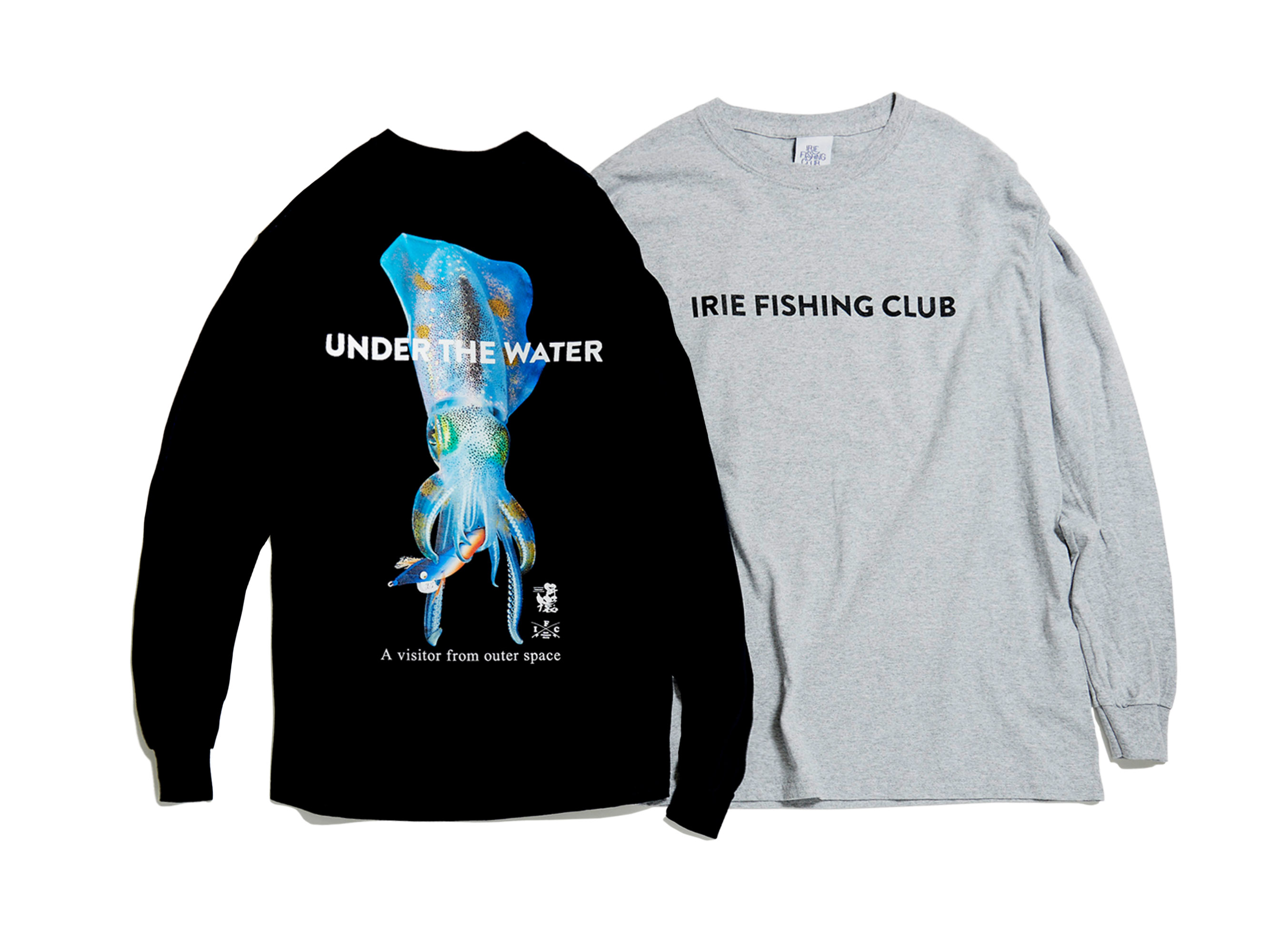 ×餌木猿 UNDER THE WATER L/S TEE -IRIE FISHING CLUB-