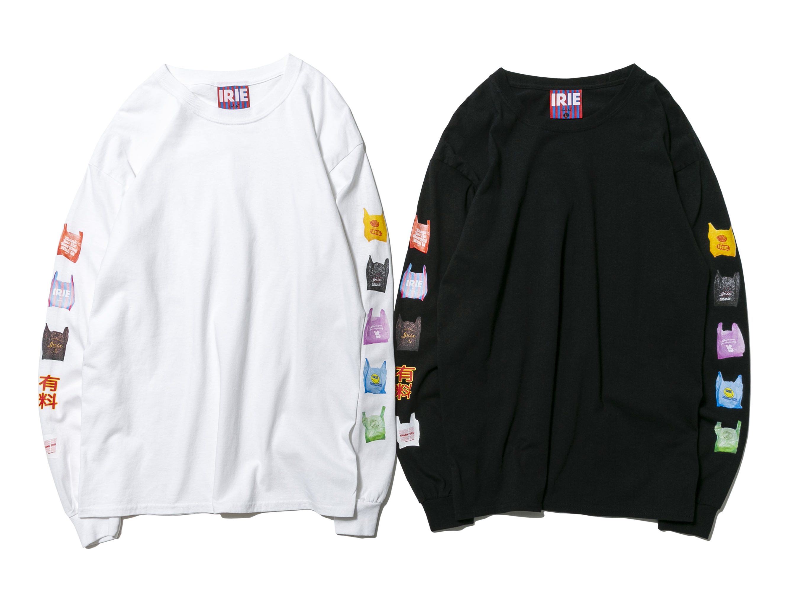 PLASTIC BAG L/S TEE - IRIE by irielife