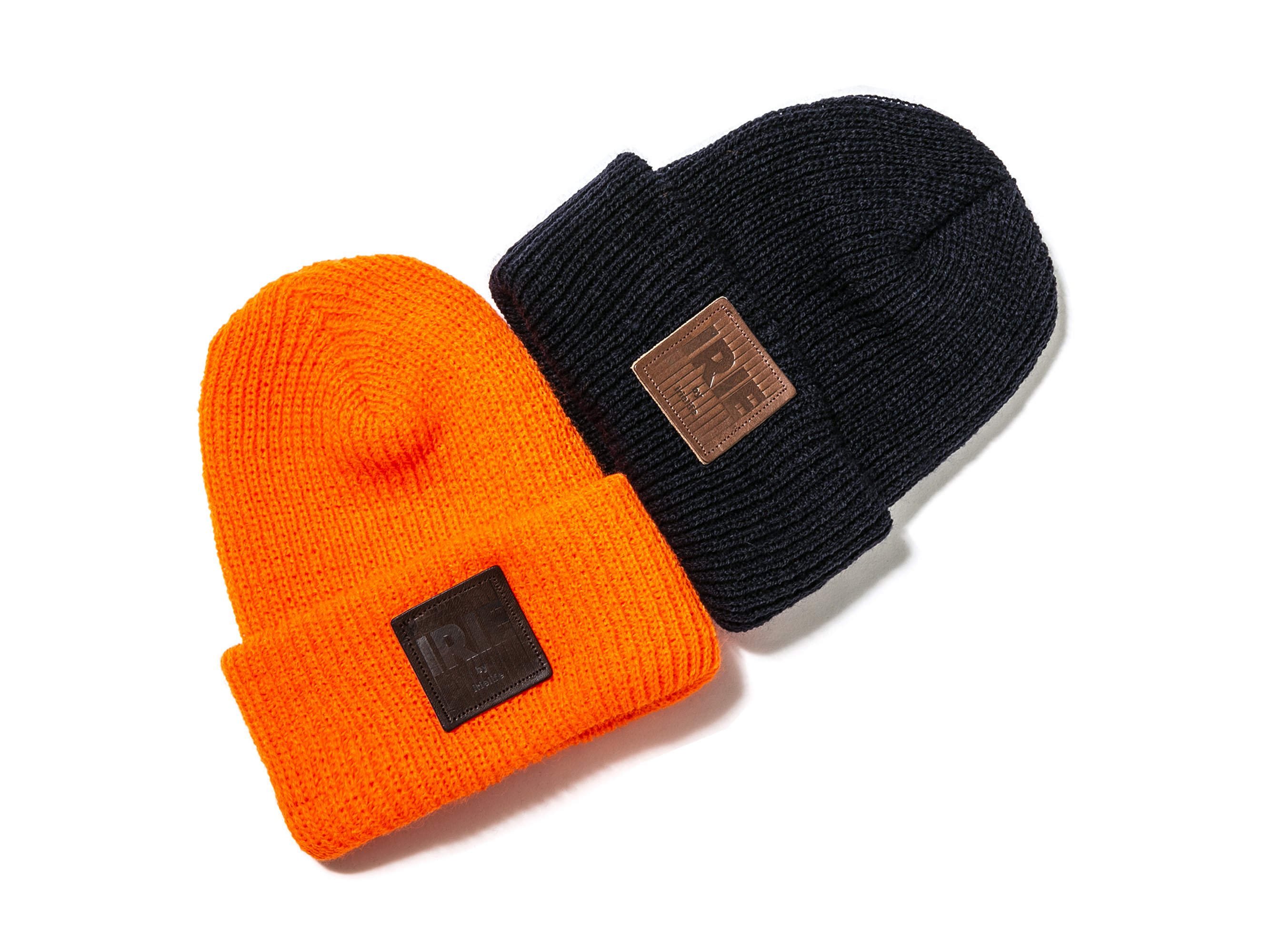 LEATHER PATCH KNIT CAP - IRIE by irielife