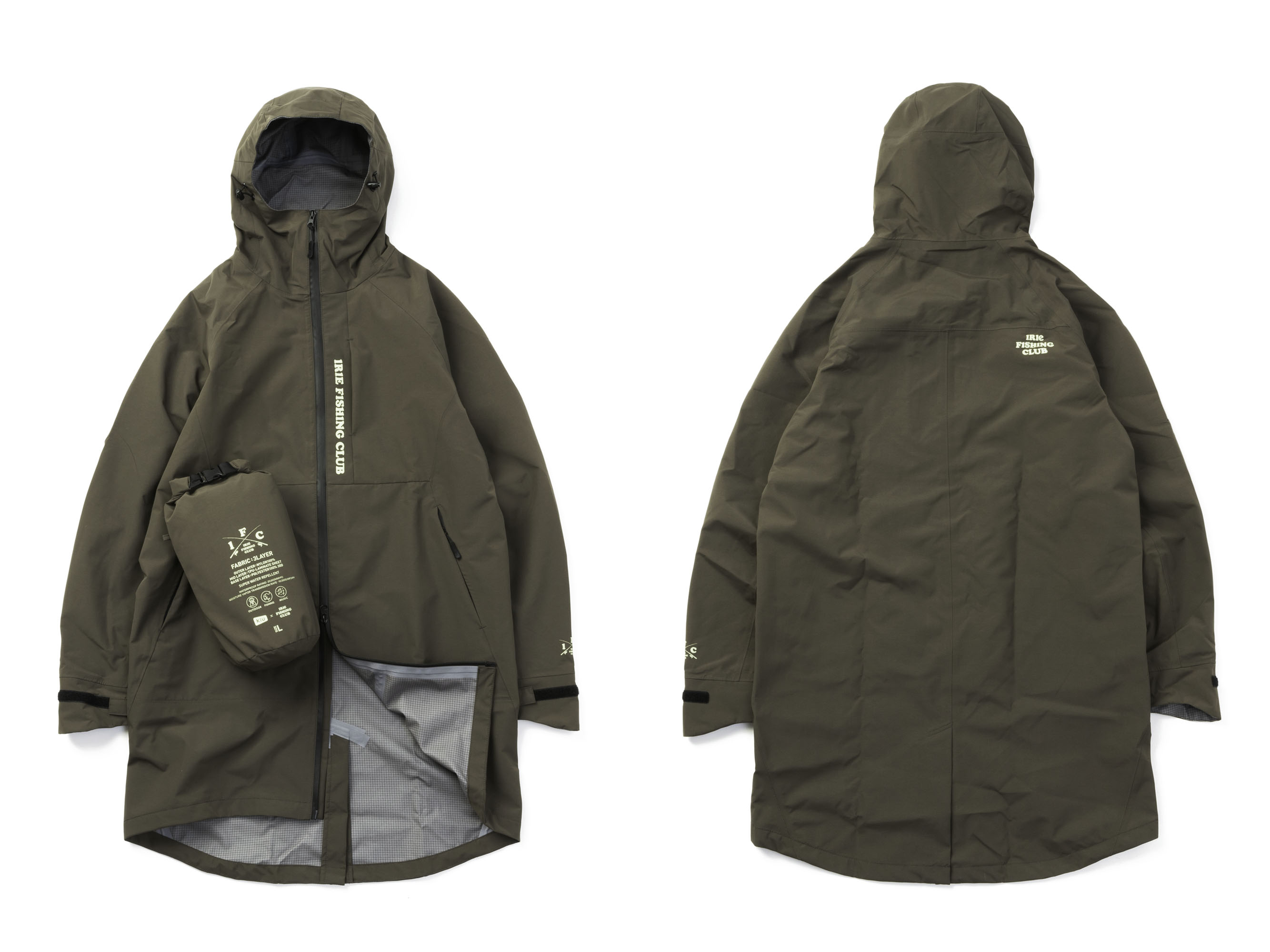 【×KIU】 IFC SLICKER RAIN LONG JACKET - IRIE FISHING CLUB