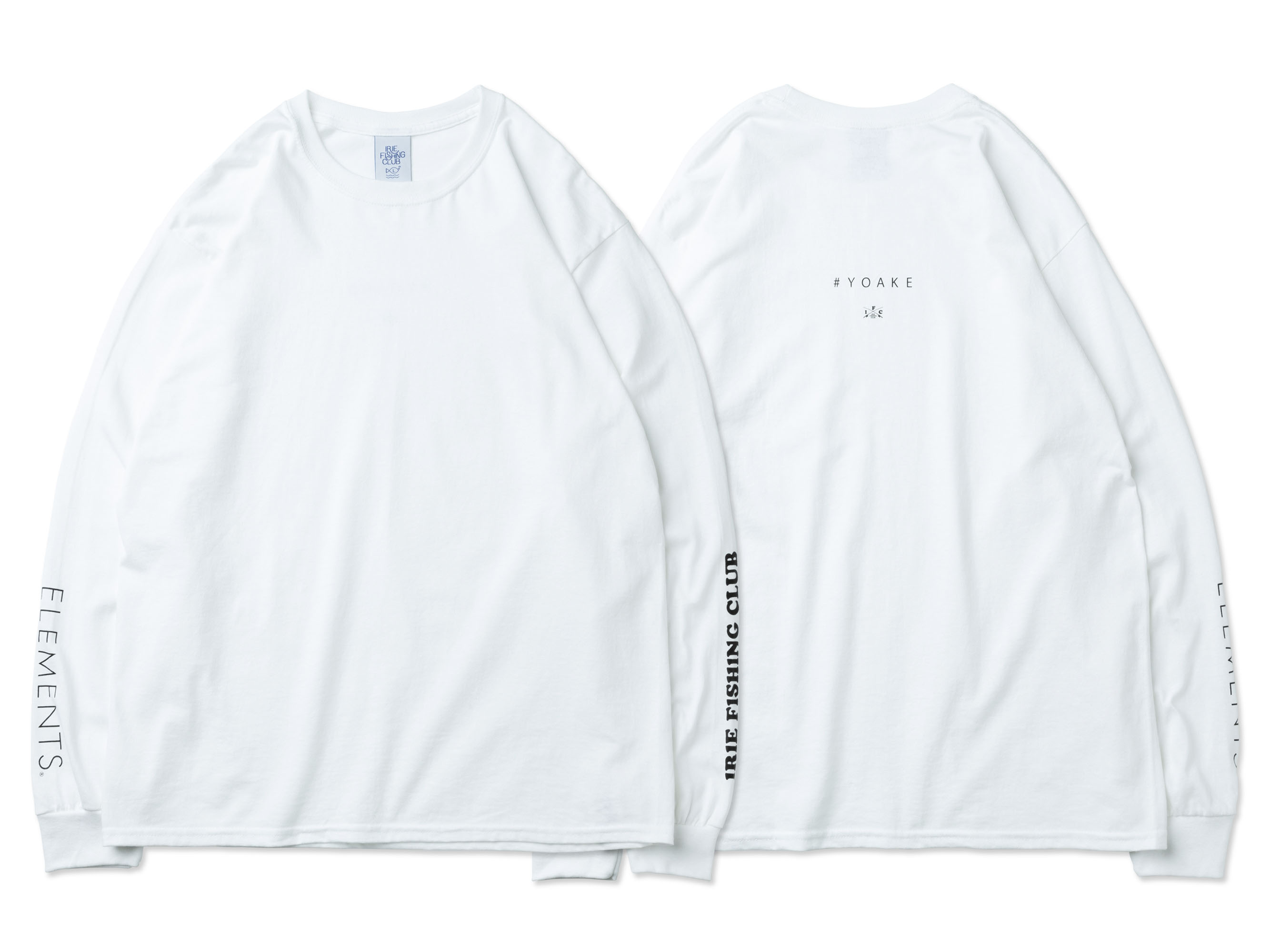 ×ELEMENTS LOGO L/S TEE - IRIE FISHING CLUB