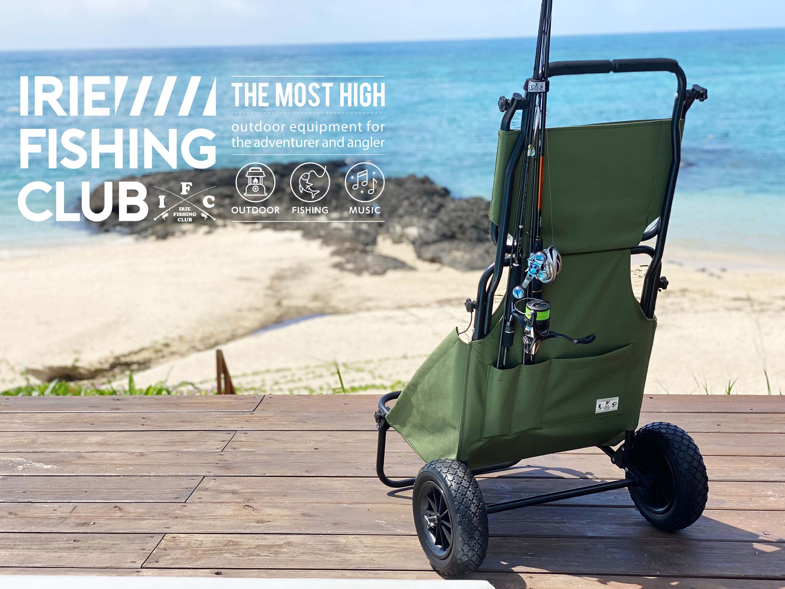 ×CAP IFC FISHING BAGGY CHAIR - IRIE FISHING CLUB